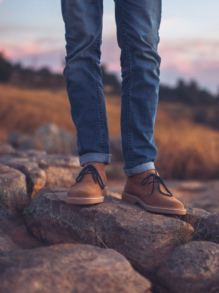 legion vellies shoes on rocks