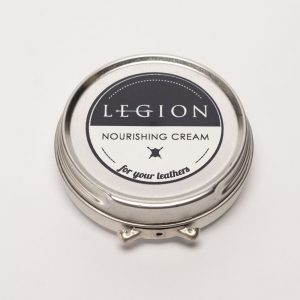 closed tin of legion leather care cream
