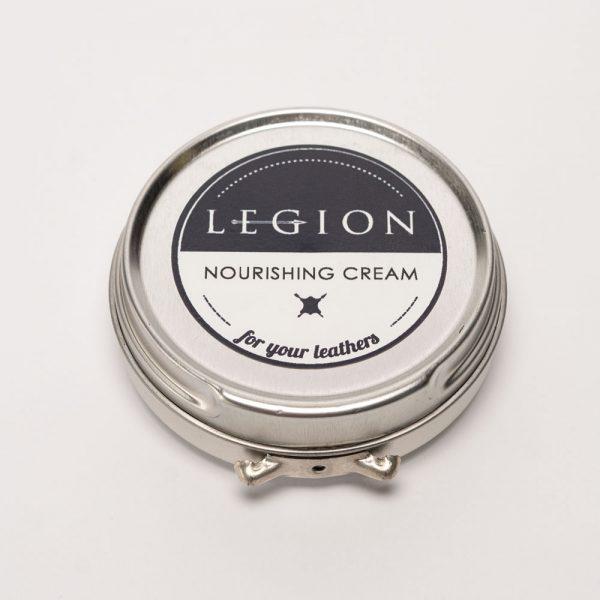 closed tin of legion leather care cream