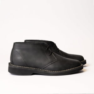 main side view of javelin ankle boot black