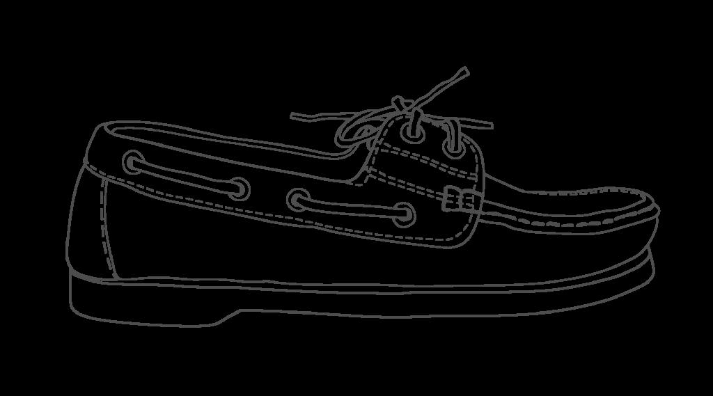 moccasin grey illustration