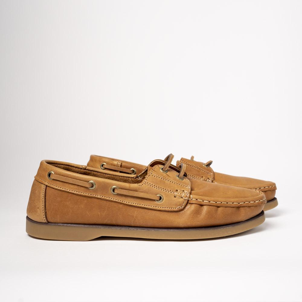 tan pair of legion moccasins