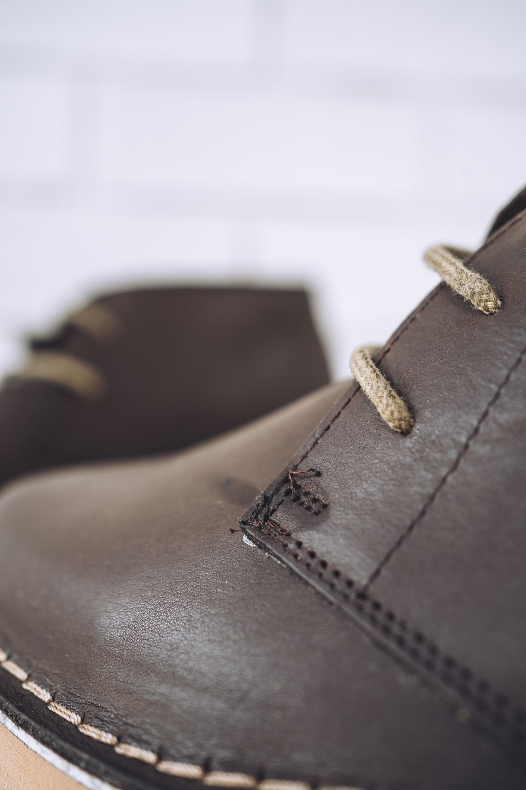 ankle boot with factory glue mark dark